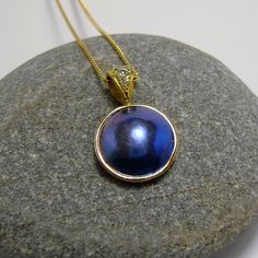 Pendants Eyris and Pacific Blue Pearls Pearl Pendant, Diamond Pendant, Pendant Necklace, Pacific Blue, Blue Pearl, Pearl Jewelry, Black Diamond, Gems, Pendants