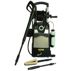 Stanley 2000 PSI GPM Electric Pressure Washer with Multiple Accessories - The Home Depot Best Ceiling Fans, Ceiling Fan With Remote, Used Cars Movie, Best Pressure Washer, Best Riding Lawn Mower, Flat Brush, Led Ceiling Lights, Car Cleaning, Lowes Home Improvements