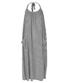 Stripy beach dress from Mads Nørgaard. Love the shape/ drape.