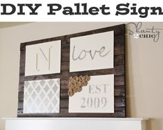 How to Build a Pallet Sign  shanty-2-chic.com/2012/10/diy-wall-art-pallet-sign.html#