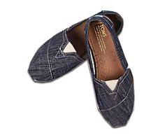 Blue-Grey Denim Classics Discount TOMS Shoes For Women