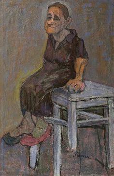 Женщина на табурете. Соломон Россин