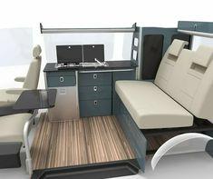 Evo pro furniture Kit - Evo Motion Design VW camper flat pack furniture Source You are in Truck Camper, Vw T2 Camper, Mini Camper, Carros Suzuki, Kombi Trailer, Vw Transporter Campervan, Ford Transit Campervan, Vw Vanagon, Minivan Camper Conversion