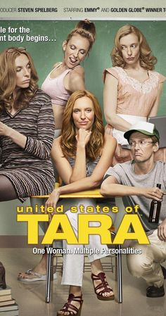 Created by Diablo Cody. With Toni Collette, John Corbett, Rosemarie DeWitt, Keir Gilchrist. A woman struggles to find a balance between her dissociative identity disorder and raising a dysfunctional family.