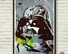 Darth Vader Poster, Pop Art Style Celebrity Portrait  in A3-A2-A1 sizes.Movie Poster-Street Style.Home Decor