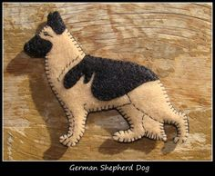 German Shepherd Dog Ornament/Magnet by justsue on Etsy