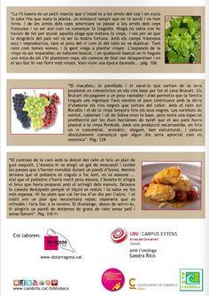 Tria de texts de la novel·la El silenci de les vinyes, de Gisela Pou, per a l'activitat LlibreTast. http://issuu.com/bpmc/docs/guiasilencivinyesweb