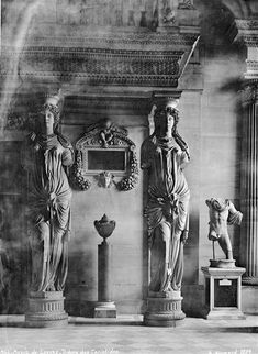 Louvre · Tribune des Cariatides  Photo by Alfred-Nicolas Normand, 1889