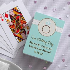 Personalized Wedding Playing Cards - Wedding Ring - 10060