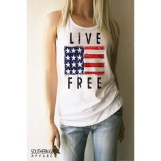 American Flag Clothing Live   Flag Shirt American Flag Tank Top Flag... ($22) ❤ liked on Polyvore featuring tops, grey, tanks, women's clothing, grey top, lightweight shirts, checkered shirt, american flag shirt and american flag singlet