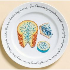 616 - Cheese Plate Blue