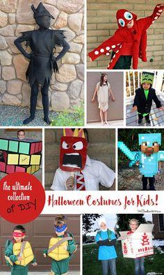 Find the perfect costume ideas for your family in my ultimate collection of DIY Halloween costumes for kids! Full of unique ideas that are… Holloween Costumes For Kids, Halloween Costumes Kids Homemade, Halloween Party Supplies, Halloween Kids, Halloween 2018, Halloween Crafts, Halloween Decorations, Ultimate Collection, Costume Ideas