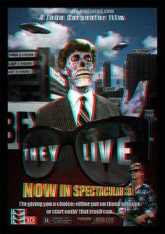 They Live 3d poster by smalltownhero.deviantart.com on @DeviantArt