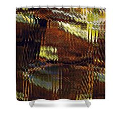 """Segmented Light Shower Curtain at http://fineartamerica.com/products/segmented-light-sarah-loft-shower-curtain.html.    This shower curtain is made from 100% polyester fabric and includes 12 holes at the top of the curtain for simple hanging.  The total dimensions of the shower curtain are 71"""" wide x 74"""" tall."""