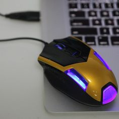 Adjustable 2400DPI 6 Buttons Optical USB Wired Gaming Game Mouse LED for PC Laptop