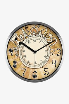 Coffee Cup Theme Kitchen Wall Clock Kitchen Stuff Pinterest