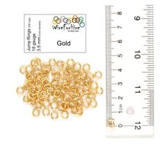 Handmade Jump Rings - 3.5 mm inner diameter - 18 gauge enameled copper - Gold. Great for jewelry and chainmail.