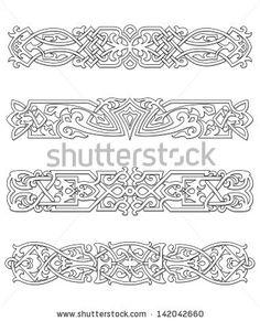 Retro borders and ornaments set for design and ornate