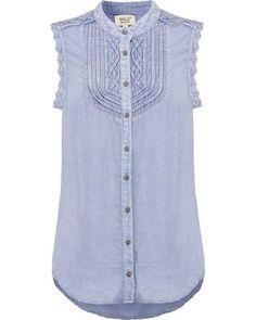 khujo BASSY Hemdbluse washed blue Online Shops, Blue Fashion, Tops, Women, Cheap Fashion, Online Shopping, Fashion Women, Blouse, Woman