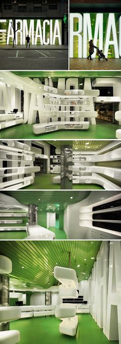 Casanueva Pharmacy / Clavel Arquitectos. Amazing design, just for a 'Farmacia'