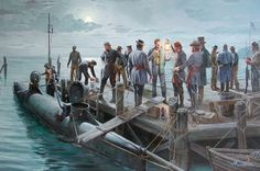 """The Final Mission"" by Mort Kunsler. The last dive of the H. L. Hunley"