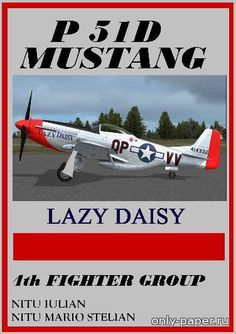 1:32 North American P51D Mustang Lazy Daisy [ModelArt ], 1:32 (!) paper model, maybe good for RC 1:16 conversion.