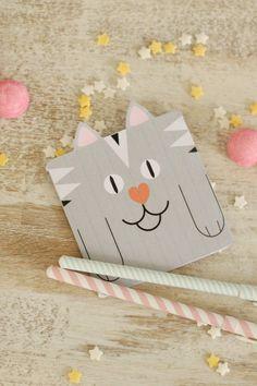 Carte petit chat pour anniversaire {Printable} - Avec ses 10 p'tits doigts... Soyez DIY !