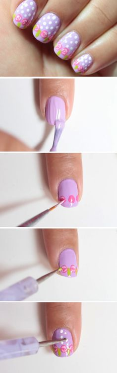 Easter Roses | 16 Easy Easter Nail Designs for Short Nails | Cute Spring Nail Art Ideas for Kids