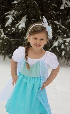 Elsa Inspired princess playdress (frozen)