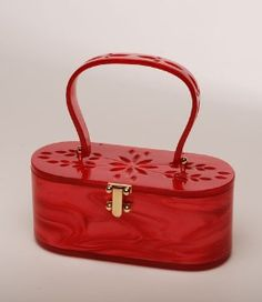 Sold Out - Vintage-Style Top Handle Lucite Handbag...