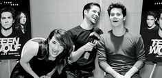 tyler posey, crystal reed, and dylan o'brien