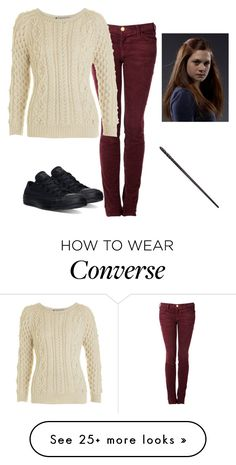 """Ginny Weasley"" by amylightwood on Polyvore featuring Current/Elliott, Isabel Marant and Converse"