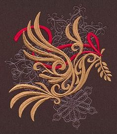 Baroque Dove design by urban threads.  Would look great on a blanket, pillow or table runner.