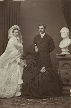 Alexandra of Denmark, Queen Victoria and the Prince of Wales.