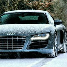 Audi R8 takes on the snow