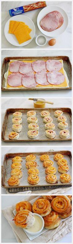 Popular Pinterest: Ham and Cheese Pretzel Bites