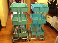 """""""Scrapbook Organization: Ikea Raskog Cart vs Sam's Club Knock-Off … and One Other Option"""". See photos of them side-by-side and get measurements ScrapbookObsessionBlog.com"""