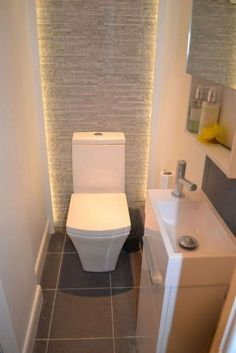 Space Saving Toilet Design for Small Bathroom - Home to Z Small Toilet Design, Small Toilet Room, New Toilet, Large Bathrooms, Amazing Bathrooms, Small Bathroom, Luxury Bathrooms, Glass Bathroom, Bathroom Mirrors