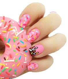 Cute gel nails colors for Trendy Manicure - Spring Nails Cute Gel Nails, Cute Nail Art, Cute Acrylic Nails, Acrylic Nail Designs, Diy Nails, Pretty Nails, Cute Kids Nails, Trendy Nail Art, Easy Nail Art