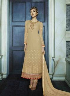 Long Pakistani style churidar suits design with amazing embroidery work on suits online. Latest Salwar Kameez, Salwar Kameez Online, Indian Salwar Kameez, Churidar Suits, Anarkali Suits, Anarkali Churidar, Wedding Salwar Suits, Designer Salwar Suits, Eid Collection