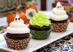 Ghoulishly Glowing Cupcakes