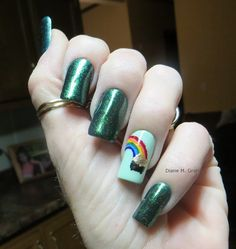 St Patricks Manicure Irish Accent Nail  To See all our Magnificent Manicures Including all our Holiday Manicures see: http://stillblondeafteralltheseyears.com/tag/manicures/