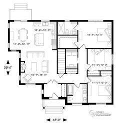 Détail du plan de Maison unifamiliale W3284-CJ