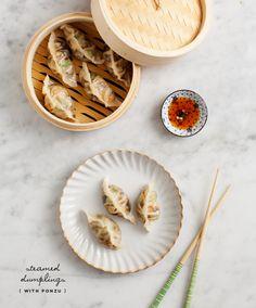 shrimp and napa cabbage gyoza / loveandlemons.com