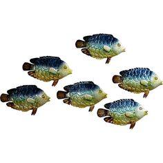 Mit dieser sechsteiligen Wanddeko holen Sie sich die Küste nach Hause: Die sechs Fische verleihen jedem Raum einen heiteren Touch.