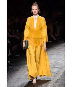 Valentino Yellow Tiered Opera Gown | Womenswear | Liberty.co.uk