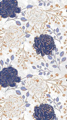 New flowers illustration wallpaper fabrics Ideas Blue Wallpaper Iphone, Blue Wallpapers, Flower Iphone Wallpaper, Wallpapers Android, Flower Backgrounds, Wallpaper Backgrounds, Iphone Backgrounds, Trendy Wallpaper, Print Wallpaper