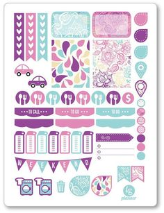 One 6 x 8 sheet of paisley weekly spread planner stickers cut and ready for use in your Erin Condren life planner, Filofax, Plum Paper, etc! An:
