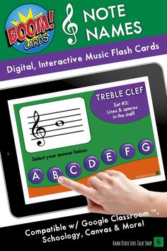 These interactive, self checking treble clef note name games are perfect for music distance learning Music Theory Games, Music Education Games, Music Activities, Teaching Music, Music Lessons For Kids, Music Lesson Plans, Music Teachers, Music Classroom, Elementary Music