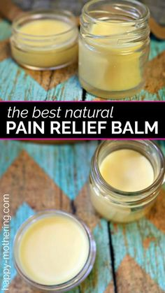Are you looking for a natural pain relief product that works? Learn how to make a natural DIY pain relief balm that smells amazing and works great! Health DIY Natural Pain Relief Balm with Essential Oils - Happy Mothering Natural Health Remedies, Herbal Remedies, Cold Remedies, Natural Cures, Doterra, Cough Remedies For Adults, Alternative Heilmethoden, Alternative Medicine, Natural Pain Relief